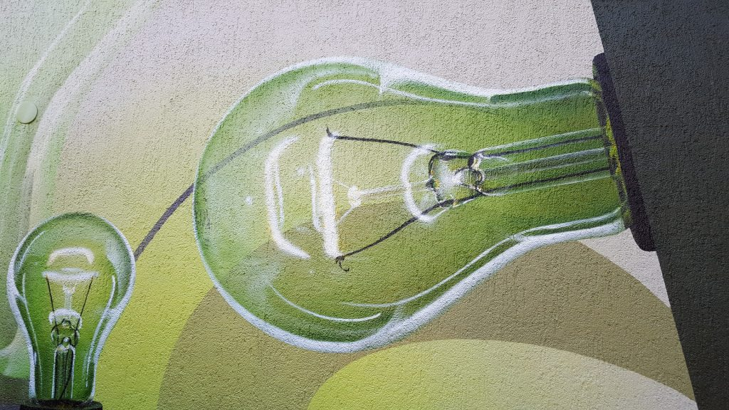 Image of lightbulb symbolising the green energy revolution